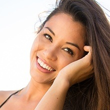 Young woman with healthy beautiful smile