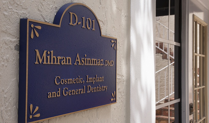 Front entrance of Dr. Asinmaz's office