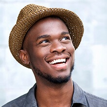 Man with beautiful bright smile
