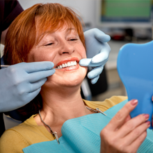woman in the dental chair