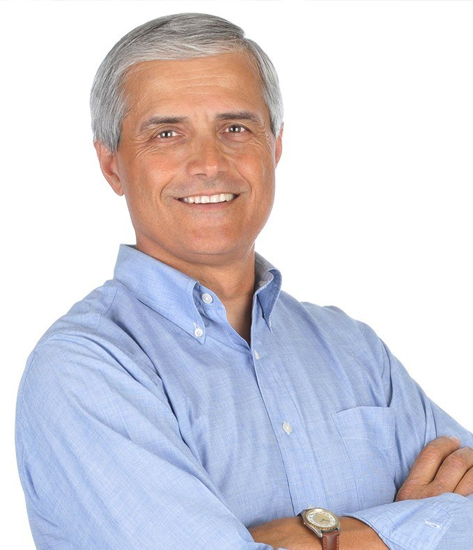 Older man with attractive healthy smile